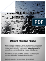 Tipurile de Regim Hidrologic