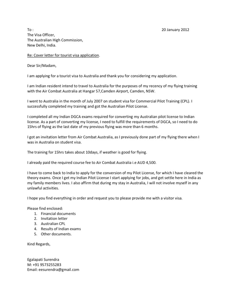 letter of invitation visitor visa australia cover letter 24122 | 1464805143