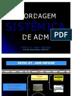 21 Adm Abordagem Sistemica Teoria Geral de Sistemas