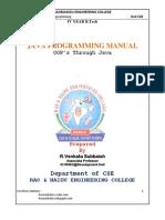 JNTU JAVA Lab Manual Programs