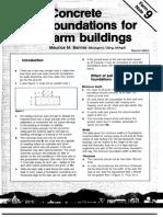 Concrete Foundation for Farm Buildings