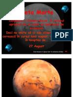 Planeta Marte La 27 August MTam