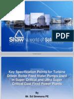 Turbine Driven BFP Presentation - Shaw