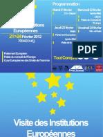 Programme de la Visite des Institutions Europeennes