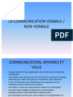 La Communication Verbale Non-Verbale