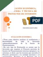 Evaluación Económica, Financiera de Proyectos de Inversión