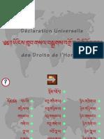 Déclaration Universelle des Droits de l'Homme - tibétain