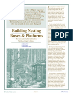 Building Nesting Boxes and Nesting Platforms