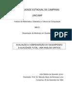 AVALIAÇÃO E COMPENSAÇÃO DO DESEMPENHO E QUALIDADE TOTAL