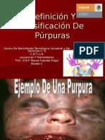 Definición Y Clasificación de Púrpuras