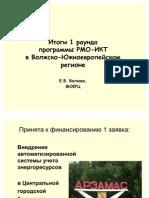 Итоги 1 раунда программы РМО-ИКТ в Волжско-Южноевропейском регионе