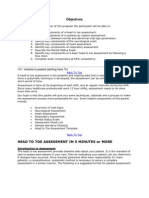 Head To Toe Physical Assessment Checklist