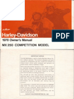 Harley Davidson MX250 - Owners Manual - 1978