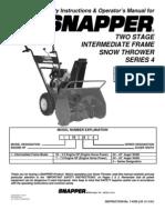 Snapper Snow Thrower i55224,i7244