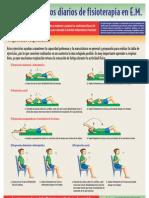 Ejercicios diarios de fisioterapia en EM