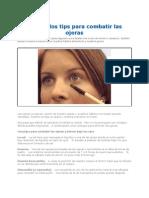 Conoce Los Tips Para Combatir Las Ojeras 2012