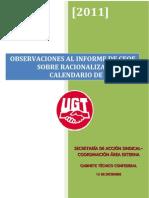 Cir 206-11 bis Información sobre reunión en materia de racionalización de festivos