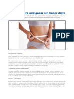 Secretos Para Adelgazar Sin Hacer Dieta 2012