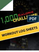 1000 Calorie Challenge Workout Log Sheets