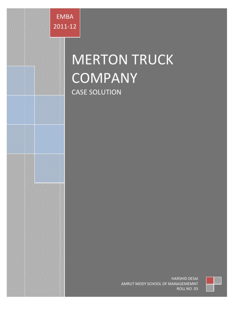 merton truck company case solution Buckeye power & light company case study solution, buckeye power & light company case study analysis buckeye power & light company case solution merton truck co.