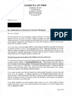 Aldrich Law Firm Settlement Demand Law Letter