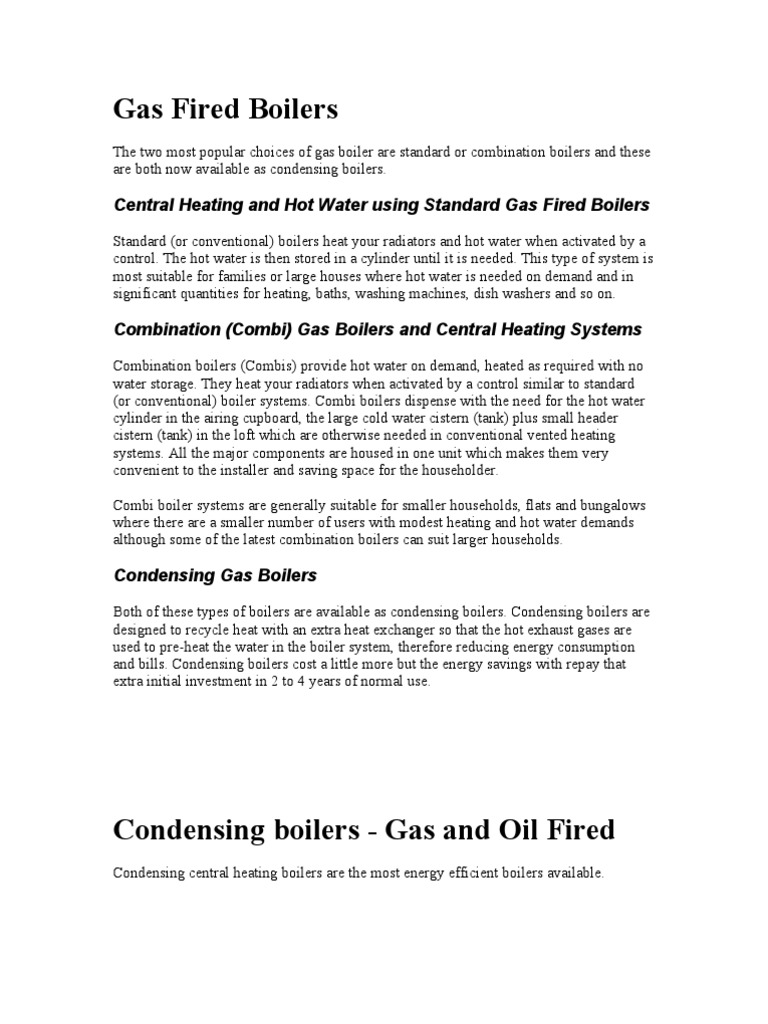 Gas Fired Boilers | Water Heating | Boiler