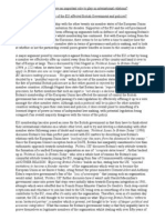 Politics EU Essay