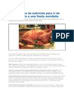 Consejos de Nutricion Invitados Navidad 2012