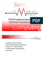 ODFM implementation with Elemental Computing Arrays