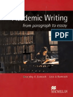 Acedemic Writing From Paragraph to Essay