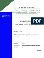 Codification d'un algorithme et programmation procédural