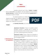 Cuestionario del Tema 1. Las Garantías Nov2010.