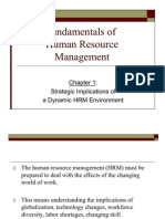 Chapter 1 Strategic Implications of a Dynamic HRM Environmen