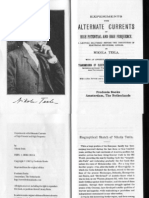 Nikola Tesla - Experiments With Currents of High Potential and High Frequency