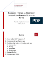 European Finance and Economy Lesson 2