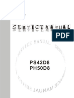 PS-42D8 and PH-50D8 Service Manual-English