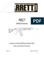 Barrett Doc REC7 Manual