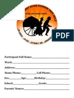 TWS Trek Registration Packet