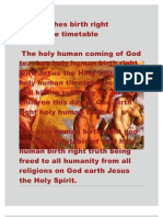 God Teaches Birth Right Worldwide Timetable