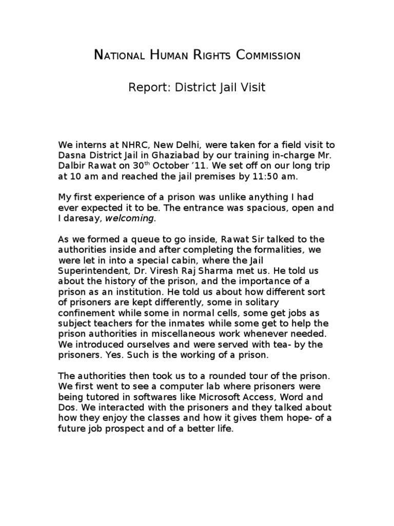 Jail Report by Anuj | Prison | Imprisonment And Detention