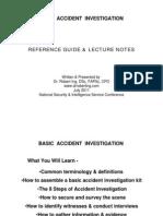 Basic Accident Investigation