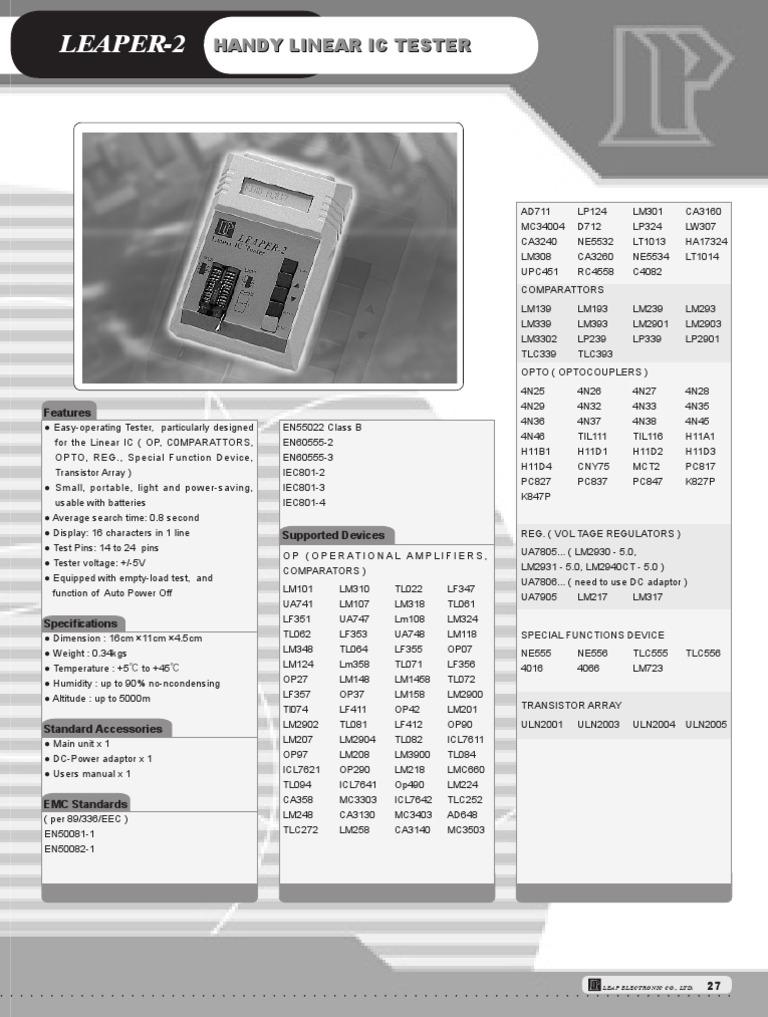Upc451 Datasheet of Ic Ne555 Ic Lm1458 Ic Lm723 Ic Ca3140 Data Sheet
