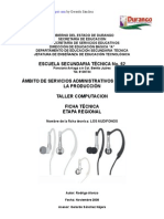 Análisis de Objeto Técnico Los Audifonos