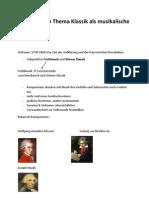 Handout Zum Thema Klassik Als Musikalische Epoche