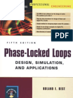 Phase Locked Loops Design Simulation And Applications by R BEST