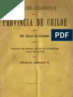 Relación jeográfica de la Provincia de Chiloé. (1893)