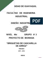BRIQUETAS DE ARROZ