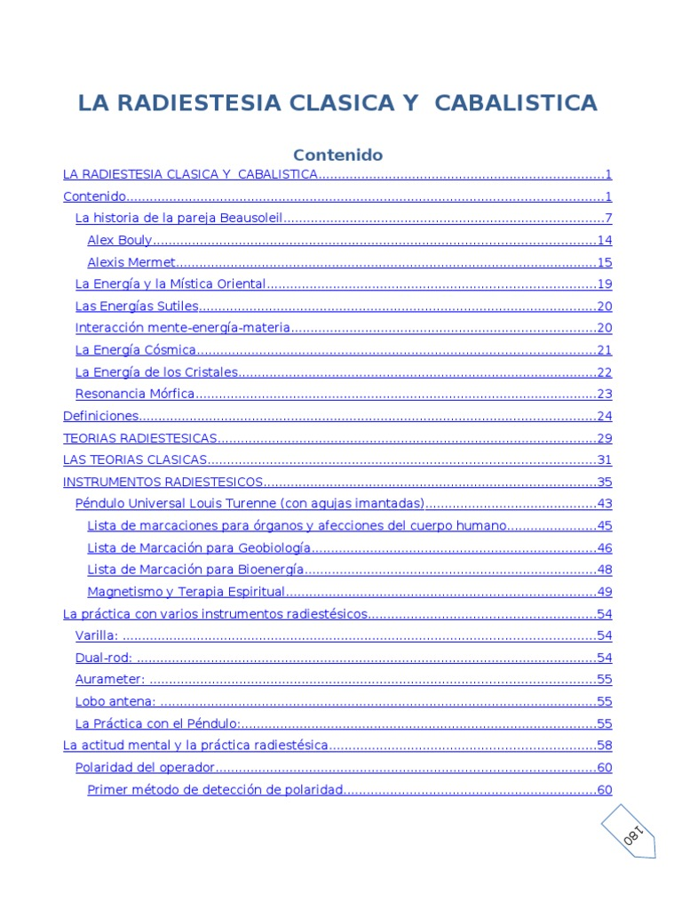 Varillas De Radiestesia Manual Pdf Download