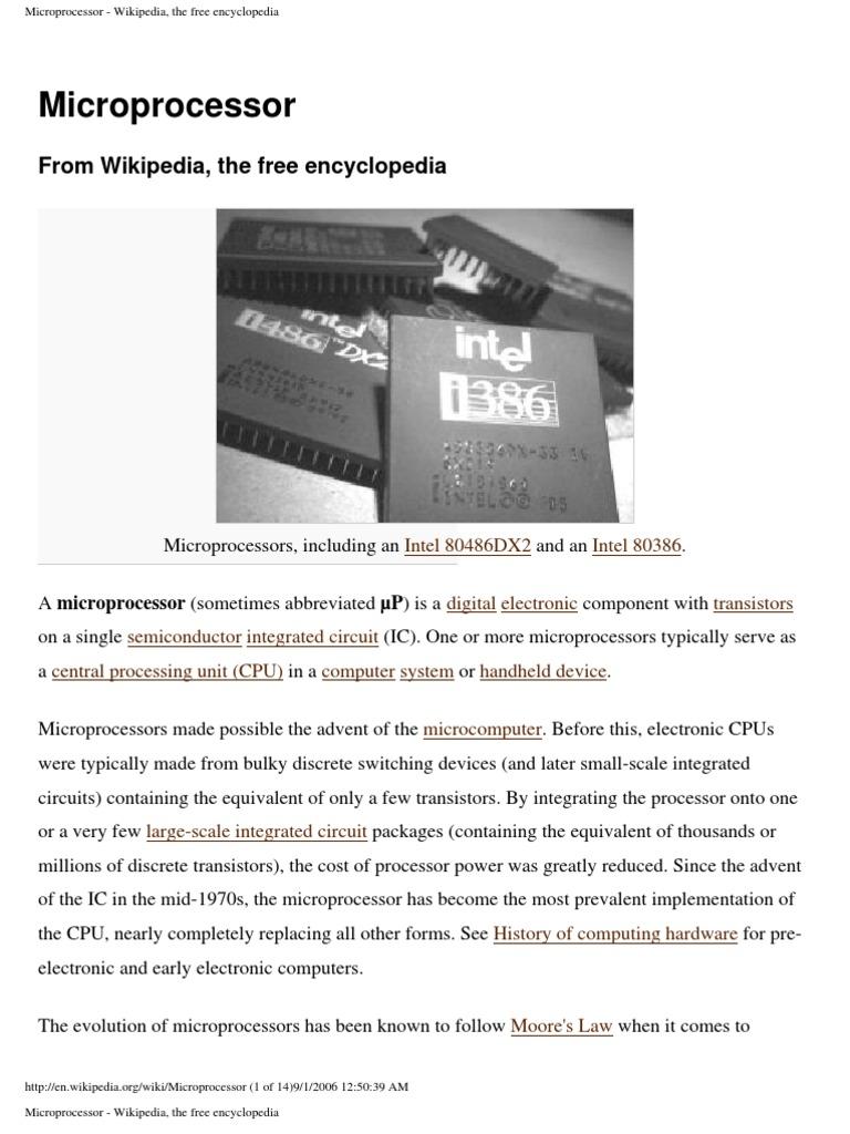 microprocessor wikipedia, the free encyclopedia microprocessormicroprocessor wikipedia, the free encyclopedia microprocessor 64 bit computing