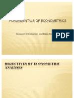 Fundamentals of Econometrics-i